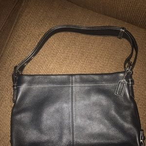 Black leather Coach purse- like new